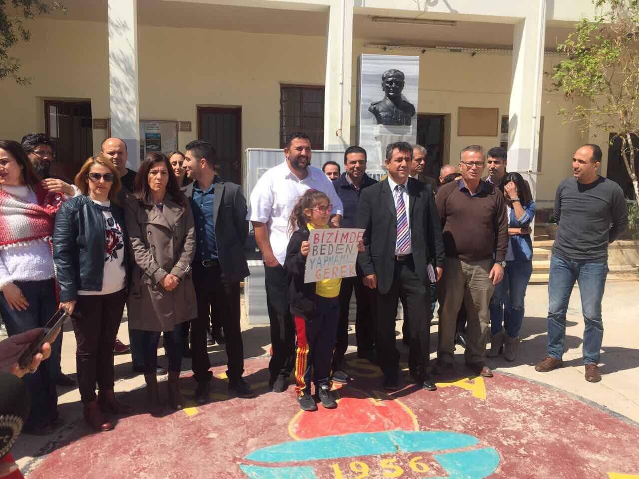 KTÖS, Alasya İlkokulu'nda Uyarı Grevi Yaptı
