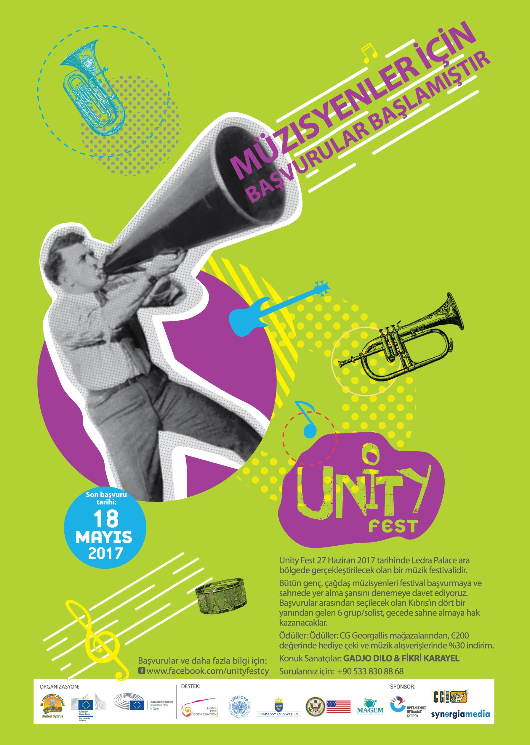 """İki Toplumlu Müzik Festivali """"Unity Fest"""" için Başvurular Başladı!"""