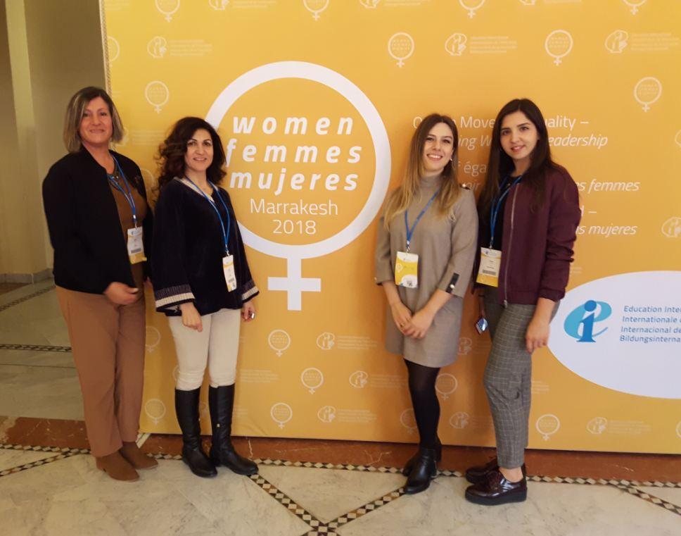 KTÖS ve KTOEÖS Temsilcileri EI 3. Dünya Kadın Konferansına Katıldı