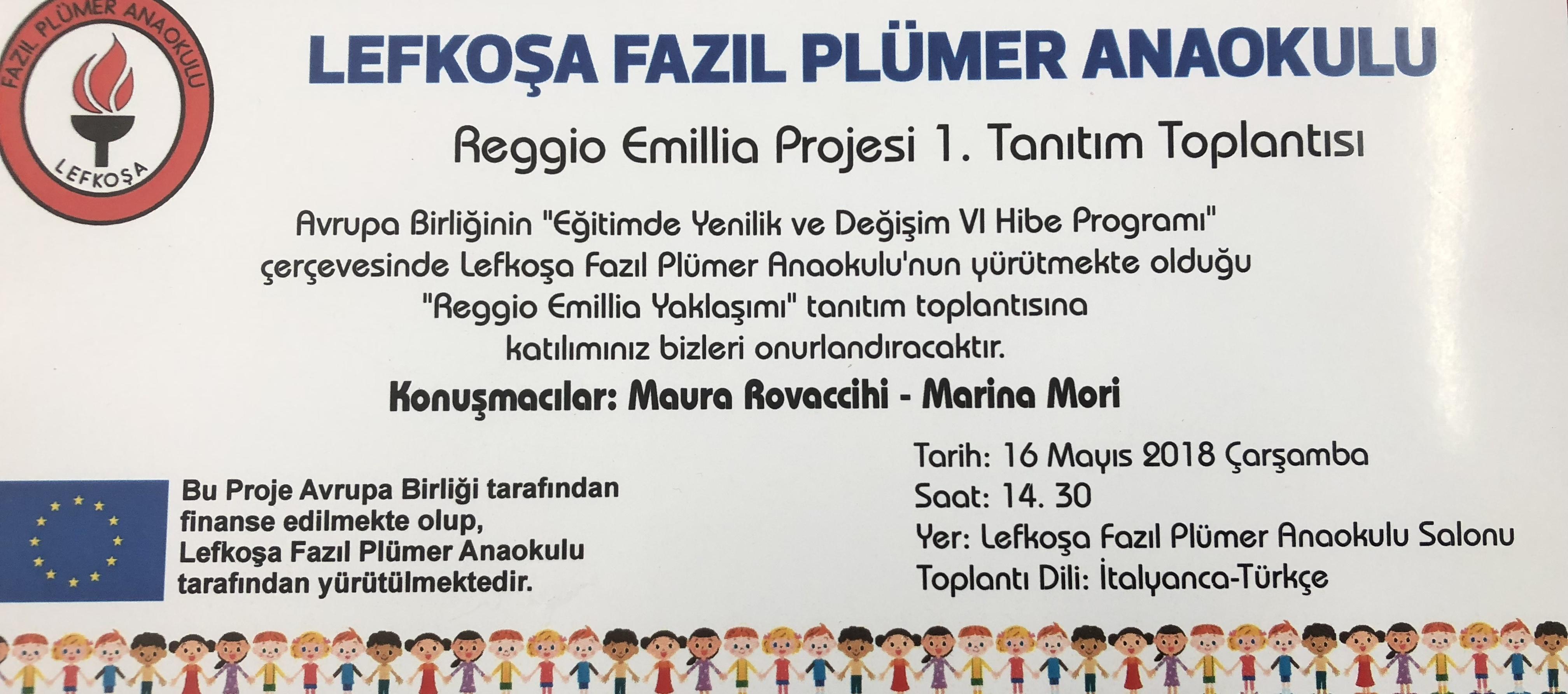 'Reggio Emillia Yaklaşımı' ile ilgili seminer Fazıl Plümer Anaokulu'nda!