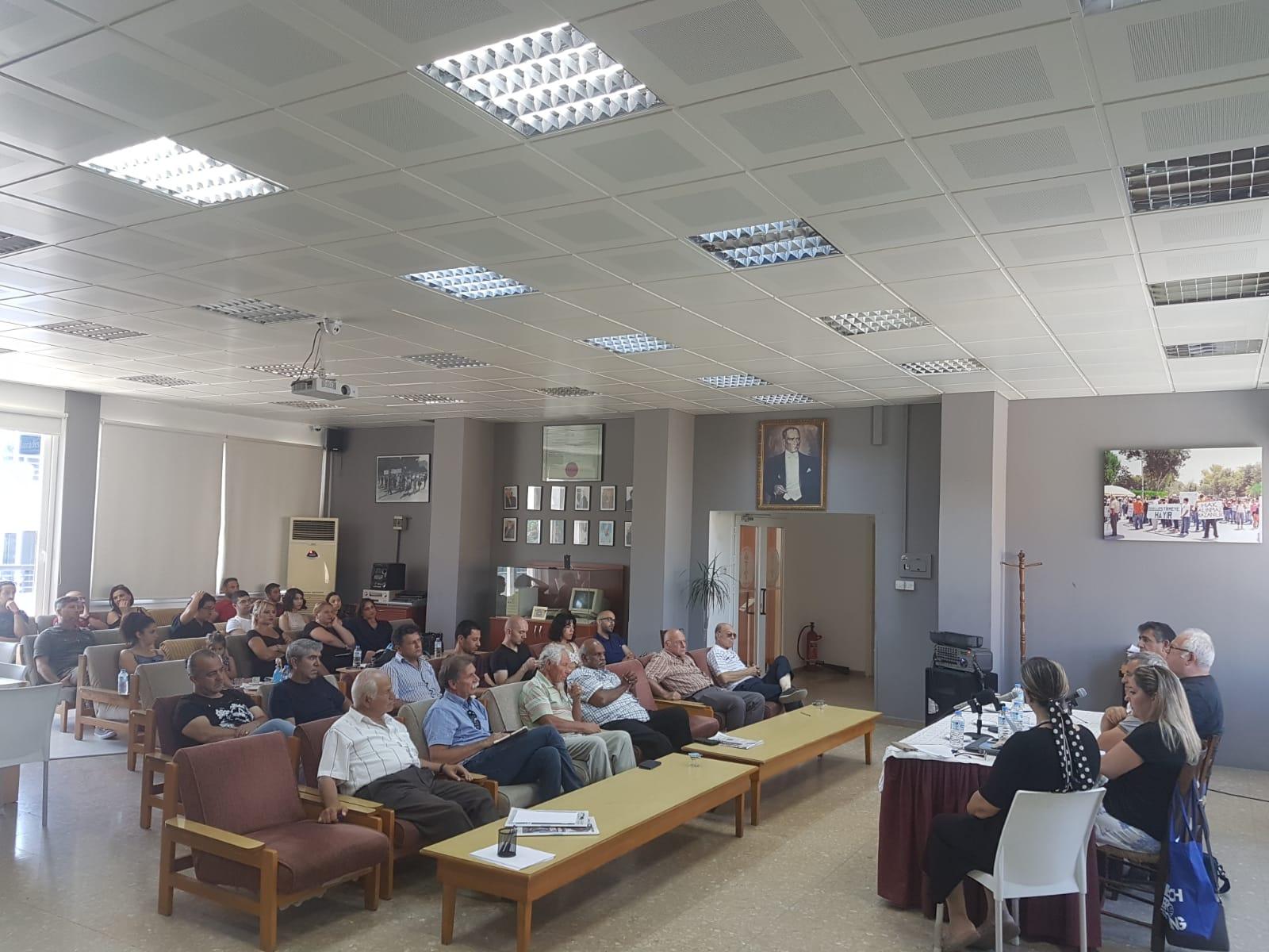 KTÖS'te Kıbrıs Sorunu ve Çözüm Önerileri konuşuldu.