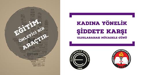 KTÖS-KTOEÖS: Kadına Yönelik Şiddet, Kadınların İnsan Hakları İhlalidir!